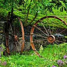 Vintage Wagon Wheel Gate