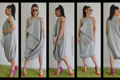 Grey maxi jumpsuit /Oversize sleeveless jumpsuit /Casual Loose Oversized Gray Top /innovative Jumpsuit / plus size jumpsuit