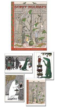 GoreyStore.com Gorey Holidays (Holiday Assortment) Holiday Notecards (Set of 20)