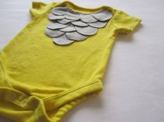 diy baby onsie. ruffle top...or maybe owl costume? either way, adorbs