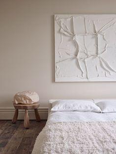 Home Interior, Interior Architecture, Interior Design, Townhouse Interior, Interior Modern, Blue Bedroom Decor, 60s Bedroom, Modern Bedroom, White Bedroom