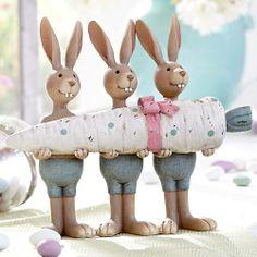three carroty rabbits