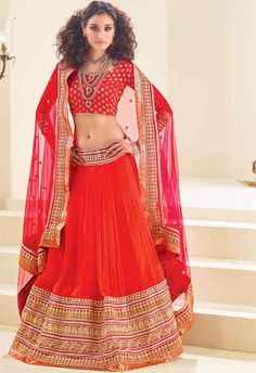 Red Designer Chiffon Lehenga Choli..@ fashionsbyindia.com #designs #indian #womens #style #cloths #stylish #casual #fashionsbyindia #punjabi #suits #wedding #saree #chic #elegance #beauty #outfits #fantasy #embroidered #dress #lehenga #choli #PakistaniFashion #Fashion #Longsuit #FloralEmbroidery #Fashionista #Fashion2015 #IndianWear #WeddingWear #Bridesmaid #BridalWear #PartyWear #Occasion #OnlineShopping