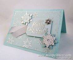 Flurry of Wishes Christmas Card – Stamp With Love