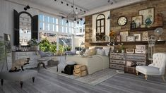 Roomstyler.com - Grey Wooden Floor