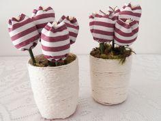 Dica de objeto decorativo: como montar um vasinho com tulipas de tecido - Blog Dona Engenhosa
