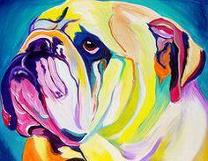 Animals Art - Bulldog - Bully  by Alicia VanNoy Call