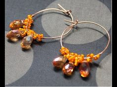 Drop of Honey Teardrop Earrings Loop Wire Jewelry Free Video Tutorial
