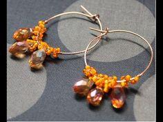 Drop of Honey Teardrop Earrings Loop Wire Jewelry Free Video Tutorial