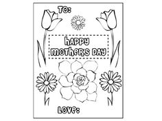 Mother's Day Gift  Coloring Page Printable  Last by DownJoyfulLane