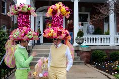 Outrageous hat creations from the from the Easter on Parade in Richmond, VA.