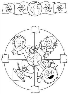 91 Mandalas printable coloring pages for kids. Find on coloring-book thousands of coloring pages. Mandala Coloring Pages, Colouring Pages, Printable Coloring Pages, Coloring Sheets, Coloring Books, Yoga For Kids, Art For Kids, Bible Crafts, Kids Crafts