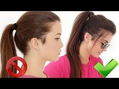 How to: High Ponytail - YouTube