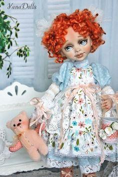 Купить Vika - рыжий, кукла ручной работы, кукла, кукла интерьерная, куклы и игрушки