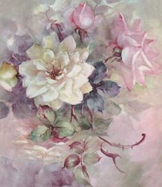 Pretty for Decoupage Arte Floral, Victorian Flowers, Vintage Flowers, Flower Images, Flower Art, Gif Rose, Decoupage Vintage, China Painting, Rice Paper