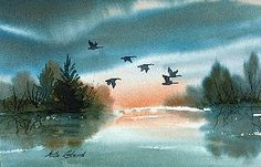Using a Limited Palette: Art Tips by Nita Leland Watercolor Sunset, Watercolor Tips, Watercolor Pictures, Watercolour Tutorials, Watercolor Landscape, Abstract Watercolor, Watercolor Flowers, Landscape Paintings, Watercolour Painting