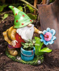 Gardener Gnome Statue | zulily