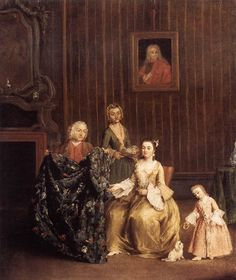 Early Morning Chocolate by Pietro Longhi. Rococo. genre painting. Ca' Rezzonico (Museo del Settecento), Venice, Italy