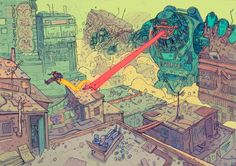 Josan Gonzalez has the second volume of his awesome sci-fi comic/art book The Future is Now up on Kickstarter. Cyberpunk Kunst, Sci Fi Kunst, Comic Kunst, Arte Sci Fi, Sci Fi Art, Fantasy Kunst, Fantasy Art, Art Science Fiction, Sci Fi Comics