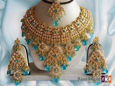 Kundan Gold Plated Royal Bridal Necklace Set Jewelry Earrings & Tikka