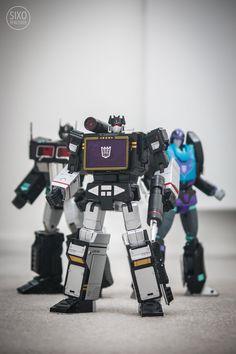 Transformers Masterpiece MP-10B Black Convoy, MP-13B Soundblaster and MP-09B Black Rodimus Convoy