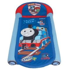 Thomas & Friends My First Ready Bed A Sleepover Solution Including Inflatable Mattress and Sleeping Bag Custom Totes, Custom Purses, Ready Bed, Kids Sleeping Bags, Thomas And Friends, Sleepover, Baby Car Seats, Mattress, Toys