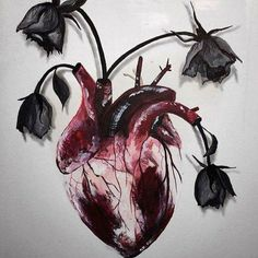 @Art is a way of survival, heart with flowers