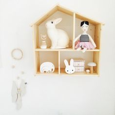 Ikea FLISAT Doll house wall shelf. Instagram photo by __katharinamaria