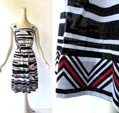 Vintage Sundress / Werkstätte Dress / 80s by SmallEarthVintage