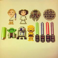 Star Wars collection perler beads by motherofperler