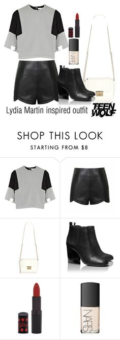 """Lydia Martin inspired outfit/TW"" by tvdsarahmichele ❤ liked on Polyvore featuring moda, D'Albert, Ally Fashion, Tory Burch y Rimmel"