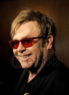 Elton John pictured at the Red Carpet for the 2012 Revlon Concert for the Rainforest fund at the Pierre Hotel in New York City on April 3, 2012