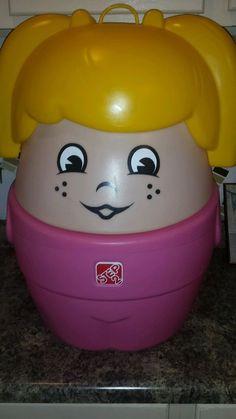 Step 2 Little Tikes Blonde In Pink Toy Box Storage Bin Hamper Rare