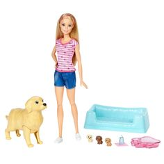 Check out the Barbie Newborn Pups Doll & Pets at the official Barbie website. Explore the world of Barbie today! Mattel Barbie, Barbie Dog, Barbie Doll Set, Doll Clothes Barbie, Barbie Camper, Barbie Kids, Barbies Dolls, Barbie Doll Accessories, Barbie Stuff