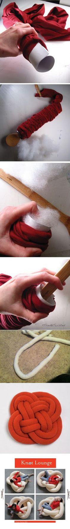 Оригинальная подушка-узел: мастер-класс и идеи | Ladiesvenue