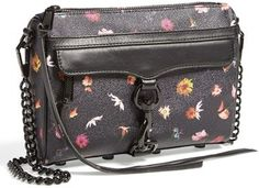 Black Floral Leather Crossbody Bag by Rebecca Minkoff. Buy for $117 from Nordstrom