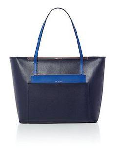 Angella dark blue tote bag