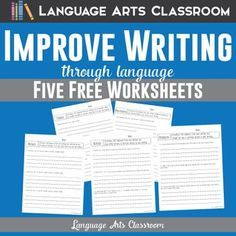 Improve student writing with one or all of these worksheets! These worksheets specifically ask students to analyze their writing with language questions.