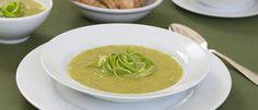 Sopa de alho-poró ao curry