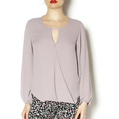Veronica M long sleeve top Dusty Purple long sleeve blouse with peek-a-boo in front. Perfect for work to night outfit. Pair with black slacks for work and skinny jeans and booties for night. Veronica M Tops Blouses