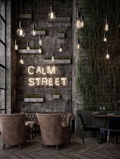 Modern interior design – Home Decor Interior Designs Cafe Shop Design, Coffee Shop Interior Design, Coffee Design, Modern Interior Design, Design Bar Restaurant, Deco Restaurant, Industrial Restaurant Design, Modern Restaurant, Cafe Bar