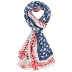 Blue Stars & Stripes Oblong Scarf Shawl (212.940 IDR) ❤ liked on Polyvore featuring accessories, scarves, blue, lightweight, wrap shawl, long scarves, lightweight scarves, oblong scarves and shawl scarves