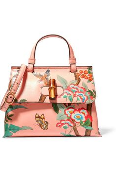 GUCCI Bamboo Daily printed textured-leather shoulder bag Clothing, Shoes & Jewelry : Women : Handbags & Wallets http://amzn.to/2lvjsr9