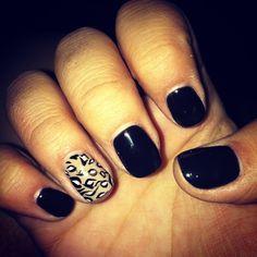 Cheetah nail Shellac