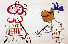 L'enfance d'Ubu 2, Oil by Joan Miro (1893-1983, Spain)