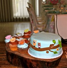 Cake from an Owl Birthday Party #owlparty #cake