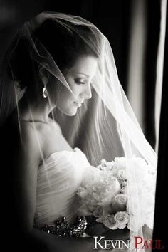 Beautiful pose with the bride and her veil