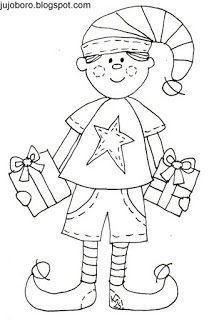 JujoBoro: Karácsonyi színezők Techno, Pilates, Smurfs, Coloring, Fictional Characters, Elf, Gnomes, Elves, Manualidades