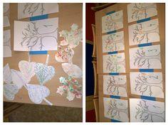 Podzim, list, strom - počítání listů, hra s písmem, malování do pěny na holení