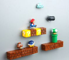 Details about Game Super Mario PVC Refrigerator Magnets Fridge Note Posted Sticker Super Mario Bros Mushroom Brick Pipe Tortoise Monster Video Game Fridge Magnets Super Mario Room, Deco Gamer, Geek Room, Video Game Rooms, Video Game Bedroom, Video Game Decor, Video Games, Birthday Party Decorations Diy, Game Room Design